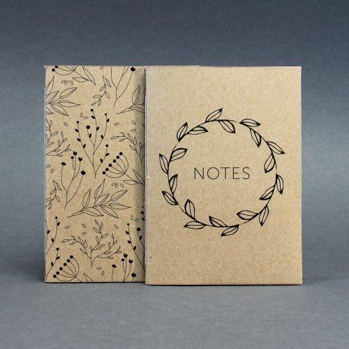 ECO ponthálós duo füzet - virágmintás / feliratos