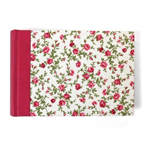 Rózsás-fehér-pink-zöld fotóalbum