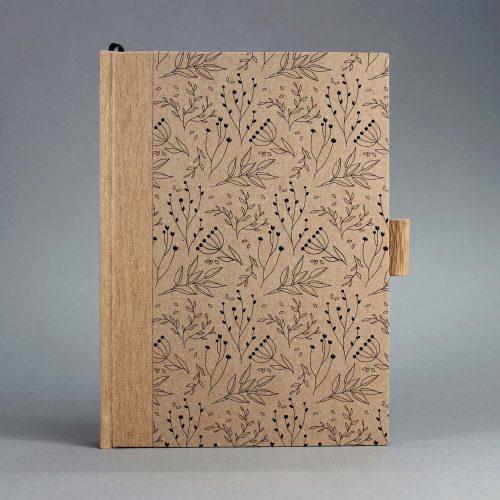 ECO natúr - virágmintás ponthálós notesz